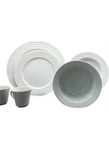 Kütahya Porselen Kütahya Porselen Ekose 24 Parça Yemek Takımı Renkli